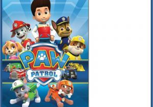 Paw Patrol Party Invitation Template Paw Patrol Invitations Sure Success Free Invitation