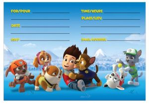 Paw Patrol Party Invitation Template Paw Patrol Party Invitations 8ct