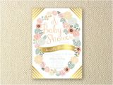 Peach and Gold Baby Shower Invitations Items Similar to Floral Peach and Gold Baby Shower