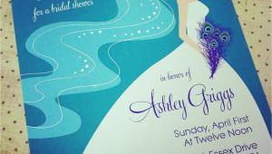 Peacock Wedding Shower Invitations Peacock Bridal Shower Bachelorette Party Invitation