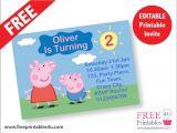 Peppa Pig Birthday Invitations Free Downloads Free Peppa Pig Invites Freeprintables4u
