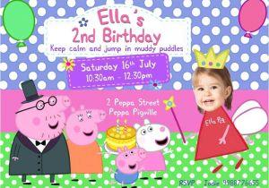 Peppa Pig Birthday Party Invitation Template Free Peppa Pig Birthday Invitation Template Peppa Pig