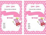 Peppa Pig Birthday Party Invitation Template Free Peppa Pig Birthday Invitations – Birthday Printable
