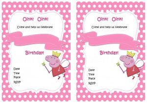 Peppa Pig Birthday Party Invitation Template Free Peppa Pig Birthday Invitations – Birthday Printable