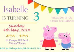 Peppa Pig Birthday Party Invitation Template Free Peppa Pig Birthday Invitations Online Free – Amazing