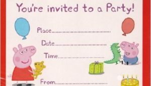 Peppa Pig Birthday Party Invitation Template Free Peppa Pig Birthday Invitations Template