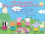 Peppa Pig Birthday Party Invitation Template Free Peppa Pig Birthday Invitations Templates Ideas