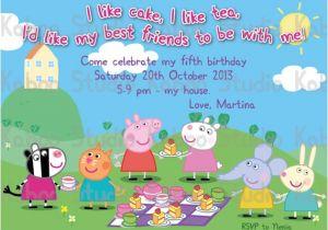 Peppa Pig Birthday Party Invitation Template Free Peppa Pig Birthday Invitations Templates Ideas