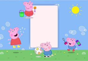 Peppa Pig Birthday Party Invitation Template Free Peppa Pig Birthday Party Invitation Template Free