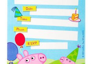 Peppa Pig Birthday Party Invitation Template Free Peppa Pig Party Invitations