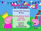 Peppa Pig George Party Invitations 10 Personalised Peppa Pig and George Birthday Party