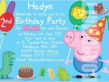 Peppa Pig George Party Invitations Peppa Pig George Personalised Party Invitations or