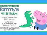 Peppa Pig George Party Invitations Peppa Pig Invitations
