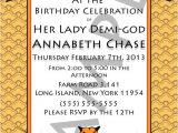 Percy Jackson Birthday Party Invitations Demi God Percy Jackson Inspired Greek God Half Blood