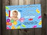 Personalised 1st Birthday Invitations Ebay Candyland Land Candy Birthday Party Invitation Custom 1st