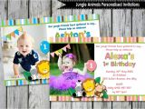 Personalised 1st Birthday Invitations Ebay Jungle Animals Safari 1st First Birthday Party Supplies