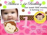 Personalised 1st Birthday Invitations Ebay Mod Monkey Birthday Party Invitation Photo 1st Baby Shower