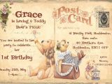 Personalised 1st Birthday Invitations Ebay Personalised Childrens 1st Birthday Teddy Bears Picnic
