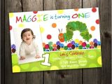 Personalised 1st Birthday Invitations Ebay Very Hungry Caterpillar Birthday Party Invitation Custom