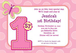 Personalised 1st Birthday Invitations Girl Uk 1st Birthday Girl Personalized Invitation Each Bargain