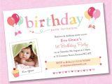 Personalised 1st Birthday Invitations Girl Uk 25 X Girls Personalised Photo Birthday Party Invitations
