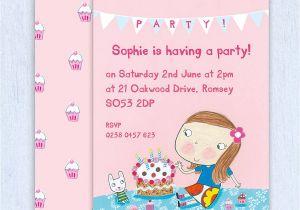 Personalised 1st Birthday Invitations Girl Uk Personalised Girl 39 S Birthday Invitations by Made by Ellis