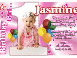 Personalised 1st Birthday Invitations Girl Uk Personalised Girls First 1st Birthday Party Anouk