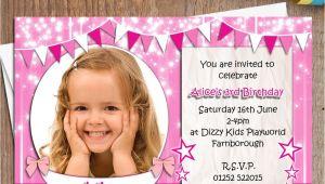 Personalised 1st Birthday Invitations Uk 10 Personalised Girls Birthday Party Photo Invitations