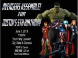 Personalized Avengers Birthday Party Invitations Avengers Birthday Party Invitations Personalized Custom