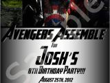 Personalized Avengers Birthday Party Invitations Custom Avengers Birthday Invitations Paaartaaay