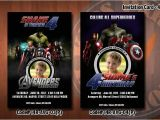Personalized Avengers Birthday Party Invitations Personalized Avengers Birthday Party Invitation 4×6 with