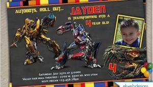 Personalized Transformer Birthday Invitations Transformers 4 Personalized Photo Birthday Invitations