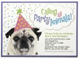 Pet Birthday Party Invitations 17 Best Images About Adopt A Pet Party On Pinterest Paw