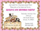 Pet Birthday Party Invitations Dog themed Birthday Party Invitations Drevio Invitations
