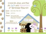 Pet Birthday Party Invitations Free Dog themed Birthday Party Invitations Template Free