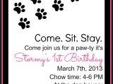Pet Birthday Party Invitations Keeping My Cents Dog Birthday