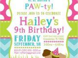 Pet Birthday Party Invitations Party Invitation Templates Dog Party Invitations