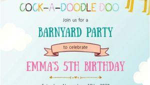 Petting Zoo Birthday Invitation Template Farm Petting Zoo Birthday Party Invitation Template
