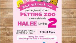 Petting Zoo themed Birthday Party Invitations Petting Zoo Birthday Invitation Petting Zoo by