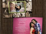 Photo Collage Wedding Invitations Collage Frame Double Sided Wedding Invitation Save by