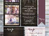 Photo Collage Wedding Invitations Photo Collage Wedding Invitation Rustic Wedding Invitation