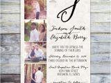 Photo Collage Wedding Invitations Printable Photo Collage Wedding Invitation Monogram Wedding