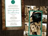 Photo Collage Wedding Invitations Western Chic Collage Wedding Invitation by Designink On Etsy