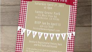 Picnic Bridal Shower Invitations Picnic Invitation