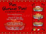 Pie Party Invitations Alana Lee Designs Custom Photo Products with Personality