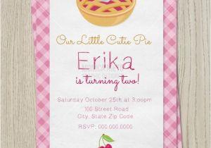 Pie Party Invitations Cutie Pie Birthday Party Invitation Cutie Pie Baby Shower