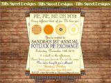 Pie Party Invitations Pie Party Invitations Oxsvitation Com