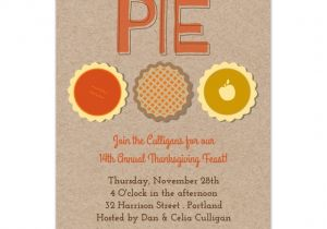 Pie Party Invitations Thanksgiving Pie Invitations Cards On Pingg Com