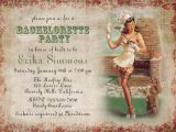 Pin Up Girl Bachelorette Party Invitations Bachelorette Party Invitations Retro Pin Up Girl Bridal