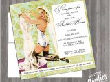 Pin Up Girl Bachelorette Party Invitations Items Similar to Vintage Pin Up Girl Invitation